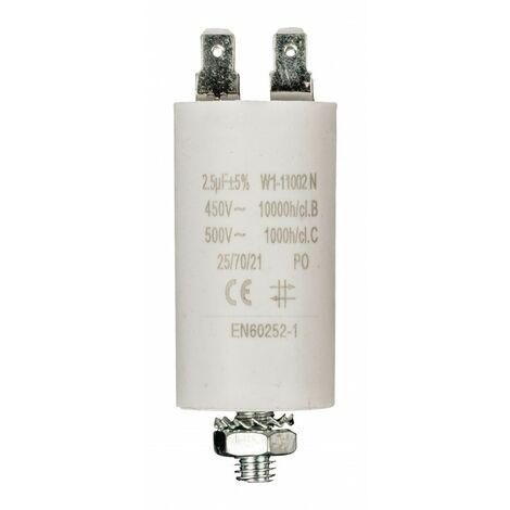 FIXAPART Condensateur Standard Permanent 2.5uf / 450 v Micro Farad Cosse 2.5 mf µf
