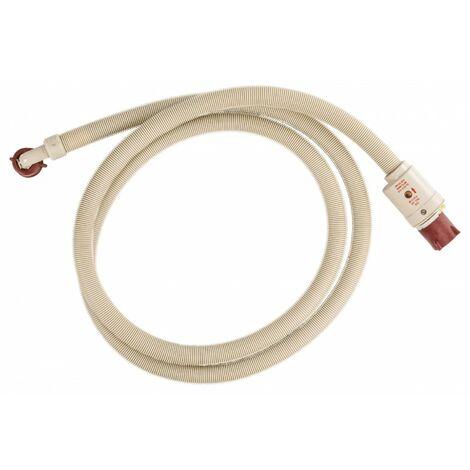 FIXAPART Tuyau d'Alimentation avec Protection contre les Fuites d'Eau 3/4 pouces Droit - 3/4 '' Coudé 10 bar 70 °C 2.50 m