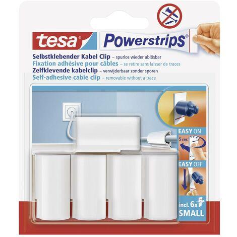 Fixation adhésive pour câbles Powerstrips® tesa 58035-16-01 blanc 5 pc(s)