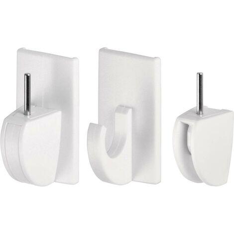 Fixation adhésive pour rideaux Powerstrips® tesa 58034-07-01 blanc 4 pc(s)