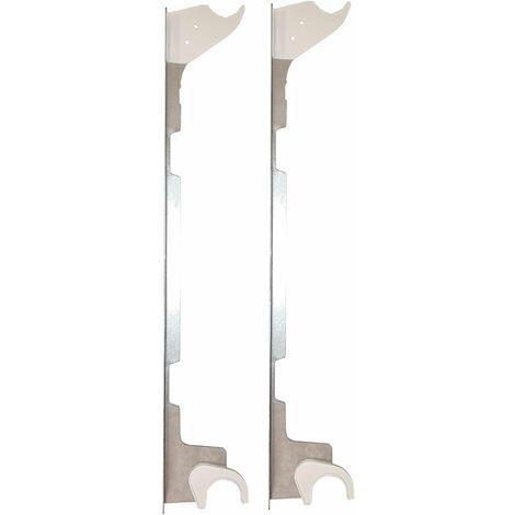 Fixation Autofix blanche pour radiateur aluminium entraxe 500 mm