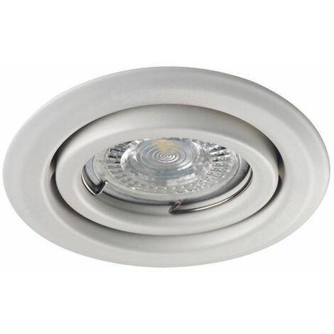 Fixation de spot encastrable orientable blanc D99mm marque Kanlux ref 26795