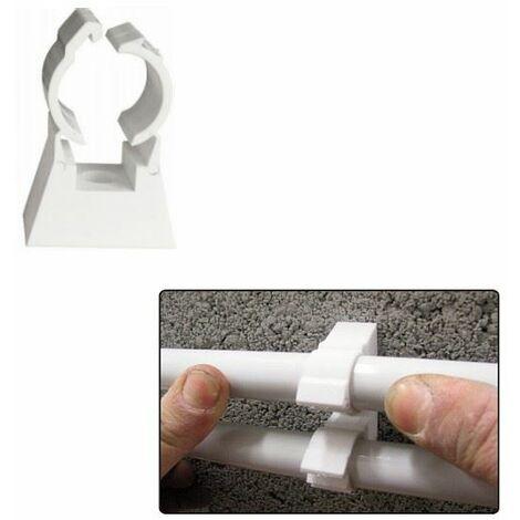 Fixation de tubes simple TUB-RING pour tube diam 15-16mm - sachet de 10 - ING FIXATION - - A854110.