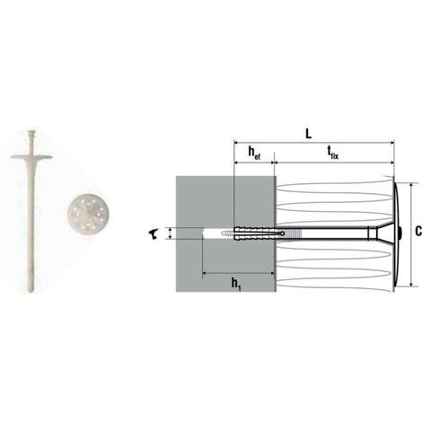 Fixation d'isolant rigide à frapper FI10 (unité) SCELL-IT- plusieurs modèles disponibles