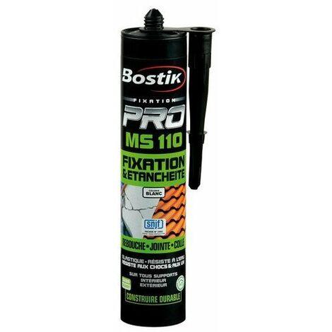 Fixation & étanchéité MS110 Bostik - Blanc - Cartouche 290 ml