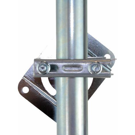 Fixation orientable sur poutre pour mât d'antenne terrestre ou satellite - SEDEA - 080882