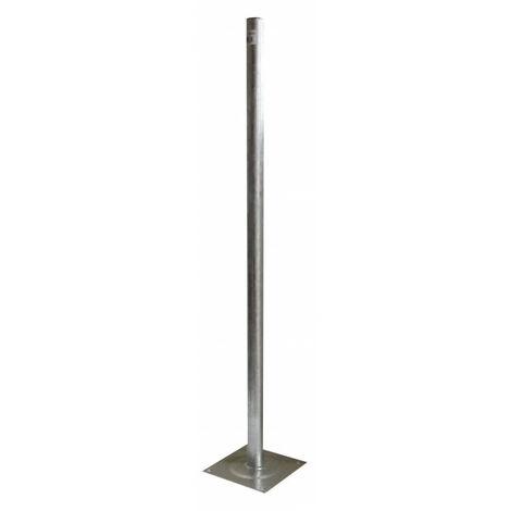 Fixation pied de terrasse, diam. 40 mm, acier galva 1 m