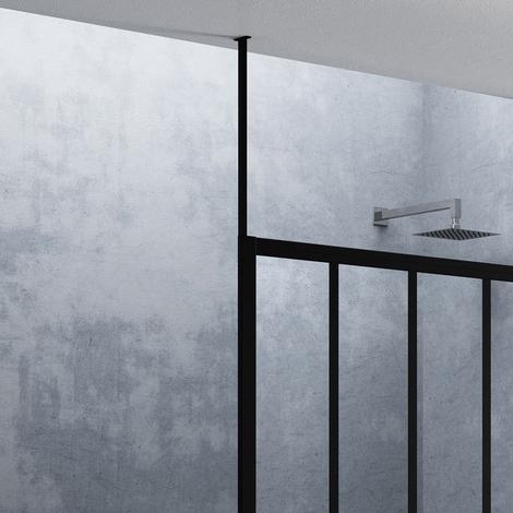 Fixation plafond - H 150cm - Noir Mat - LOFTWFIXPLAFLN
