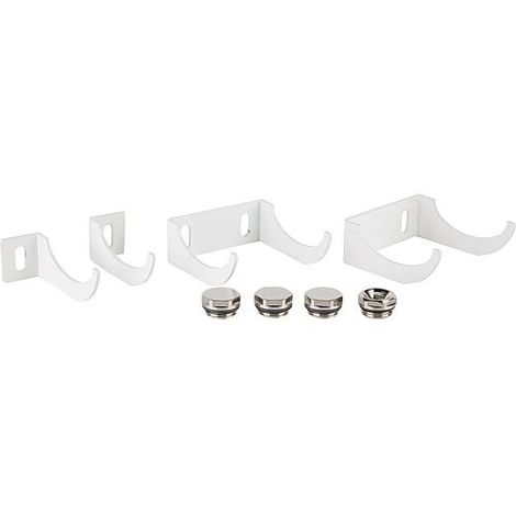 fixation pour radiateur type Murano Plus, blanc