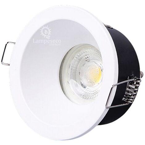 Fixation Spot encastrable IP65 basse luminance blanc, non eblouissant, pour ampoule GU10 / MR16 ref 851