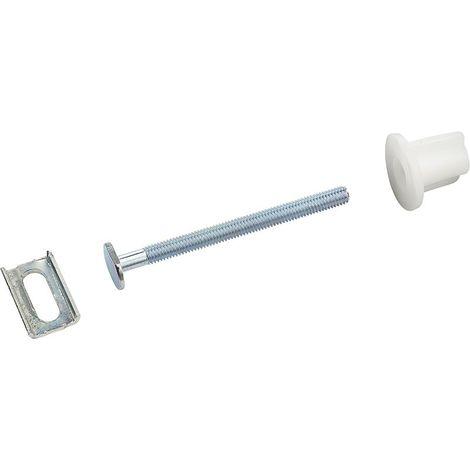 Fixations abattant vis 6x75 mm - tête ovale avec glissière x2 NOYON & THIEBAULT