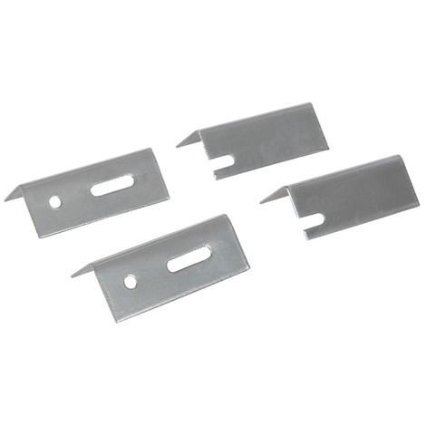 Fixations de rechange pour radiateur, 4 pcs, 76 mm