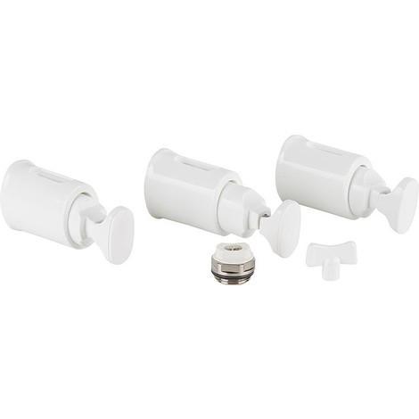 Fixations pour radiateur SdB Type Burchiello Plus, blanc