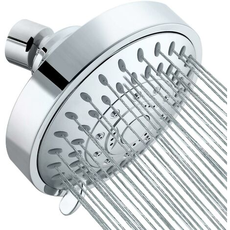 """main image of """"Fixed Shower Head Replacement Shower Head With Round Chrome Swivel Ball,"""""""