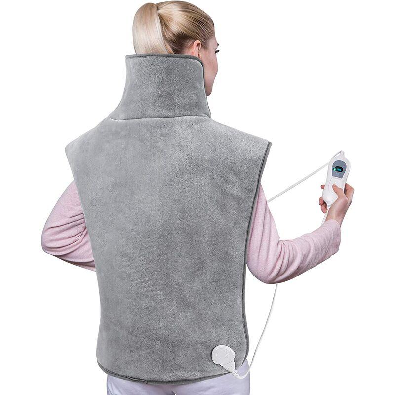 Coussin Chauffant Électrique pour le Epaules,Cervical et Dos,3 Températures,Arrêt Automatique,Protection Contre Surchauffe,Chauffage Rapide pour