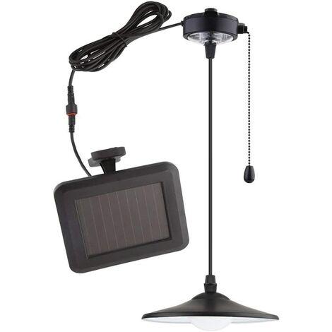 """main image of """"FIXKIT Lampe solaire LED lumière ampoule Portable Lampe pendentif avec panneau solaire pour éclairage garage depot chambre"""""""