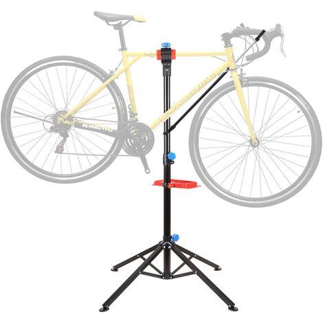 FIXKIT Pied d'Atelier pour Vélo Support Stand de Réparation Hauteur Réglable 105-170CM.