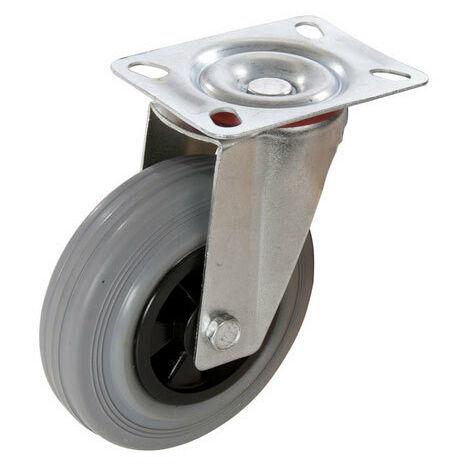 Fixman 234808 Rubber Castor Swivel 75mm 50kg