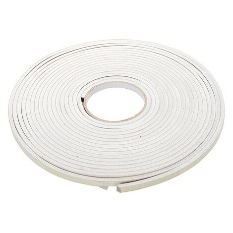 Fixman 792439 Self-Adhesive EVA Foam Gap Seal 3-8mm / 10.5m White