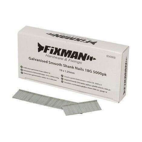 "main image of ""Fixman 856869 Galvanised Smooth Shank Nails 18G 5000pk 19 x 1.25mm"""