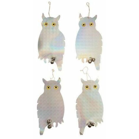 Fixman 894736 Bird Repellent Owls 4pk 200 x 410mm