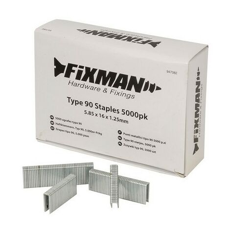 Fixman 947082 Type 90 Staples 5.85 x 16 x 1.25mm Pack of 5000