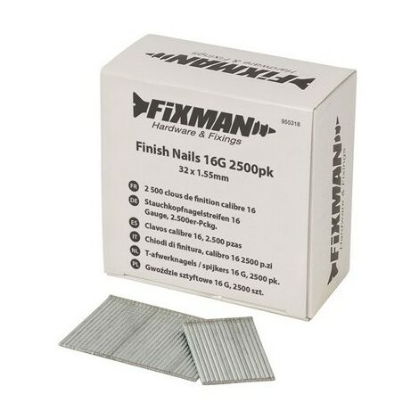 Fixman 955318 Finish Nails 16G 32 x 1.55mm Pack of 2500