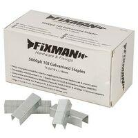 Fixman 983163 10J Galvanised Staples 11.2 x 10 x 1.16mm Pack of 5000