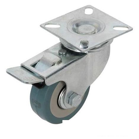FIXMAN Tools - Braked Rubber Castor - 50mm 50kg