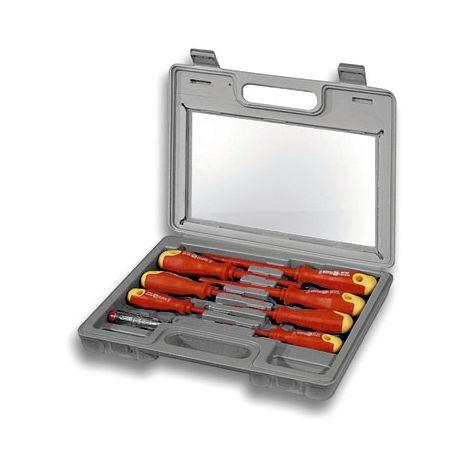 FIXPOINT Set cacciaviti antiscivolo 8 pezzi con valigetta