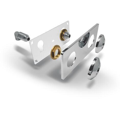 """main image of """"Fixsystem platine double de lavabo M15x21 - sortie M12x17. NOYON & THIEBAULT"""""""