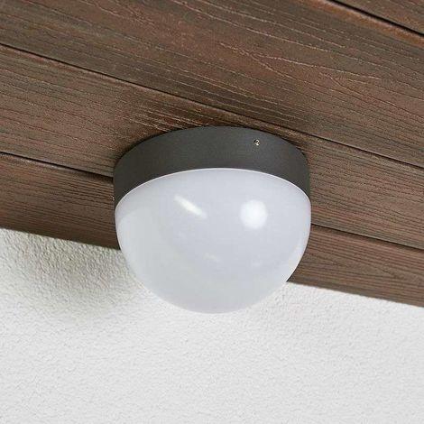 Pared lámpara de techo lámpara de aluminio marrón ip54 LED intemporal