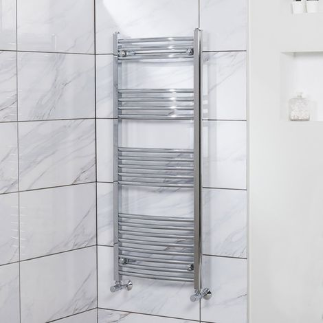 """main image of """"Fjord Curved Heated Towel Rail"""""""