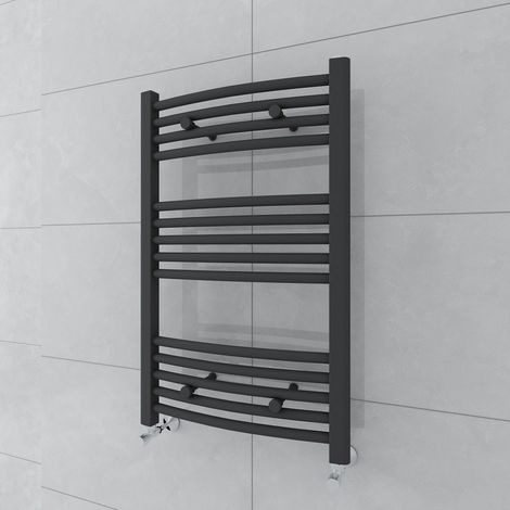 Fjord 800 x 500mm Curved Grey Towel Radiator