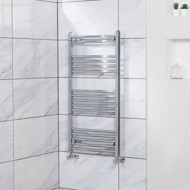 WarmeHaus Contemporary Straight Bathroom Heated Towel Rail Radiator Rad 1500 x 600 White