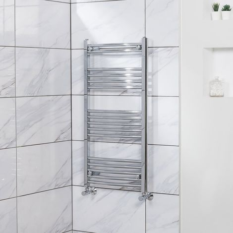 Fjord Curved Heated Towel Rail