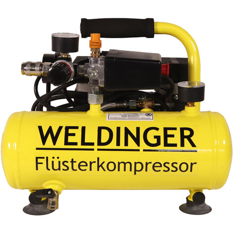 FK40 compact WELDINGER Flüsterkompressor 275 W 32 l/min Druckregler systainerfähig