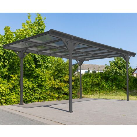 Flachdach Carport 15 m²