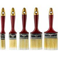 Flachpinsel Malerpinsel Pinselset 25-76mm 5tlg Lackpinsel Lasurpinsel Farbpinsel