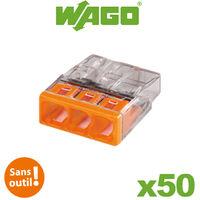 Flacon de 50 mini bornes 3 fils S2273 WAGO - Wago