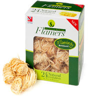 Flamers Natural Firelighters, easy to light and oudourless - Various sizes