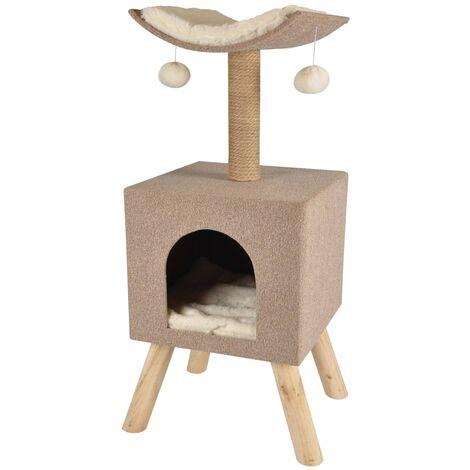 FLAMINGO Árbol rascador para gatos Scandi beige 43.5x40x54.5 cm 560554