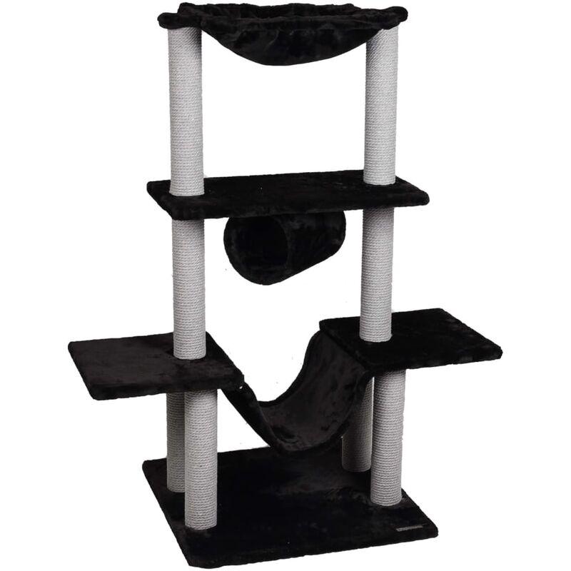 Arbre à chat Hamza Noir 60x57x122 cm - Flamingo