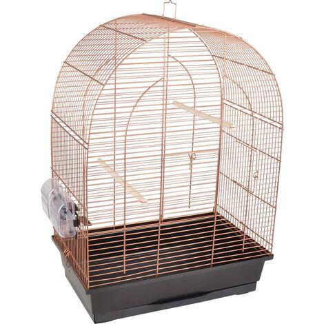 FLAMINGO Bird Cage Klara 2 Copper 45x28x62.5 cm