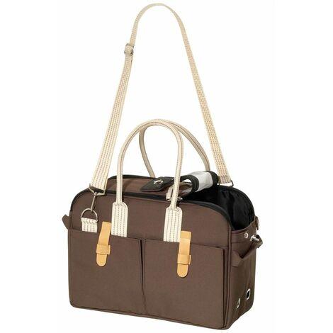 FLAMINGO Bolso de transporte para mascotas marrón 52x25x35 cm 31416