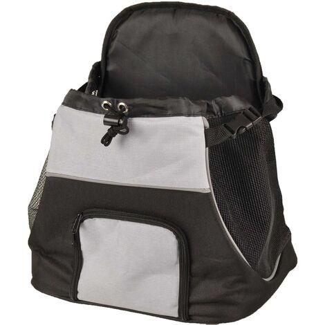 FLAMINGO Bolso transportín frontal de mascotas Sybil negro gris 518123