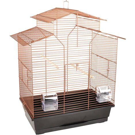 FLAMINGO Cage à oiseaux Numfor 1 Cuivre 51x30x60 cm