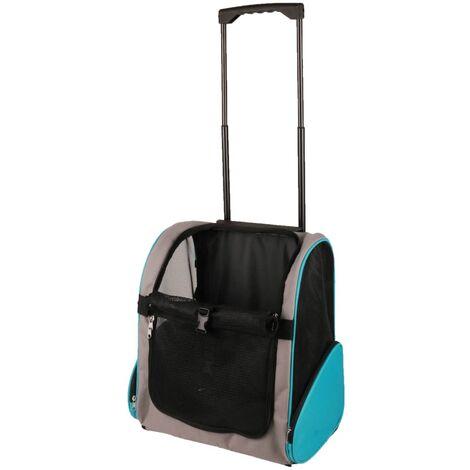 FLAMINGO Carrito de transporte para mascotas Tirza gris 38x26x46 cm