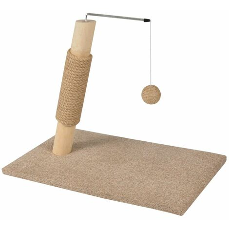 FLAMINGO Cat Scratching Post Scandi Beige 49.5x30.5x43 cm 560552 - Beige