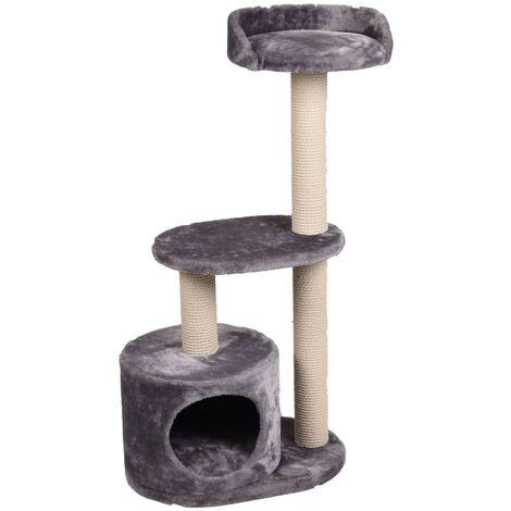 FLAMINGO Cat Scratching Tree Echo Grey 48x34x99 cm - Grey